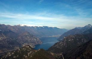 Monte Croce di Perlè e il Lago d'Idro
